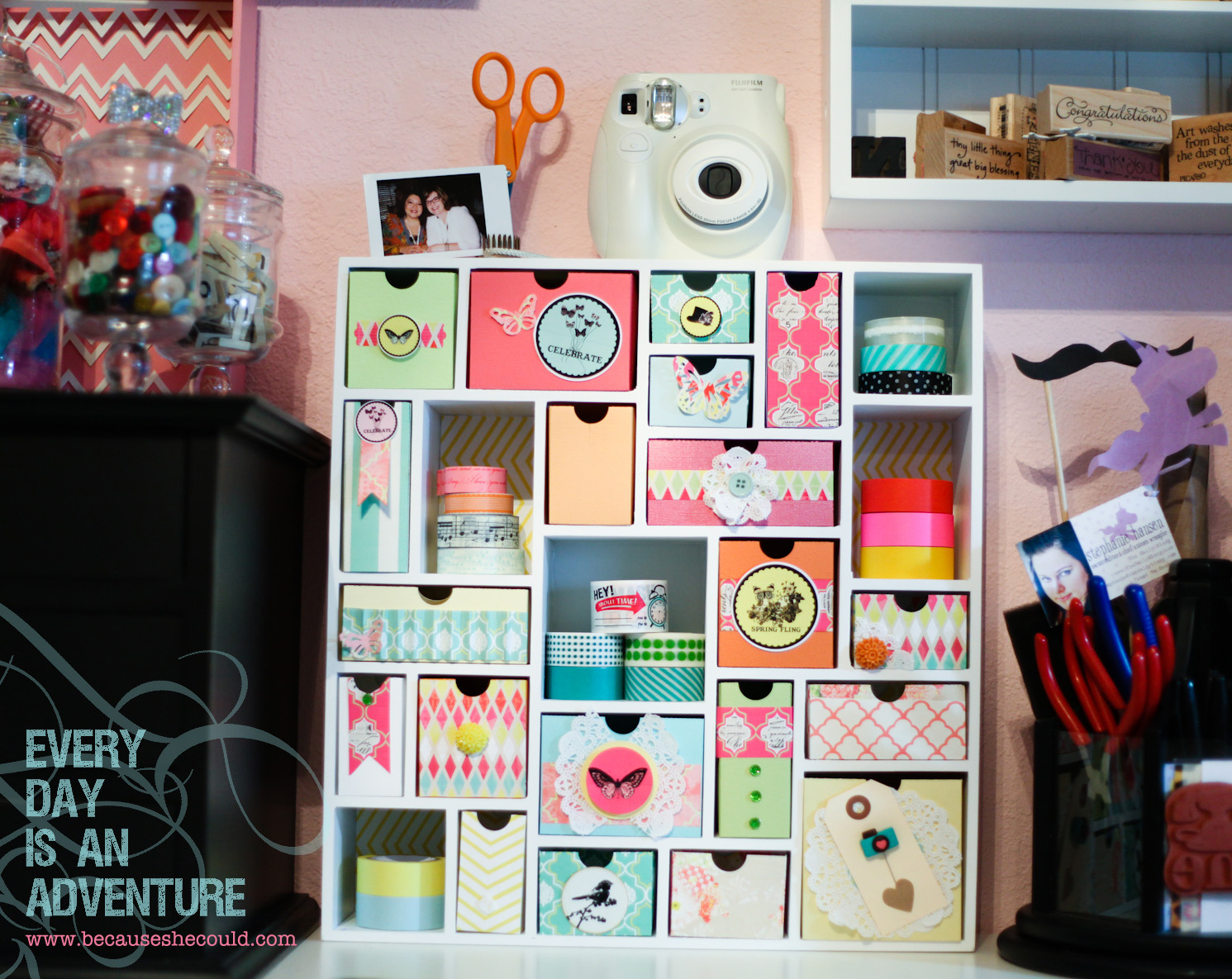 Loves to create pretty storage and my birthday present for How do you use washi tape