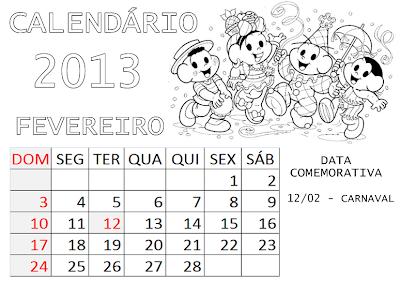 Calendário Turma da Mônica Baby 2014   Ideia Criativa