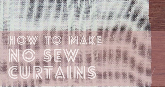 how to make curtains without sewing machine