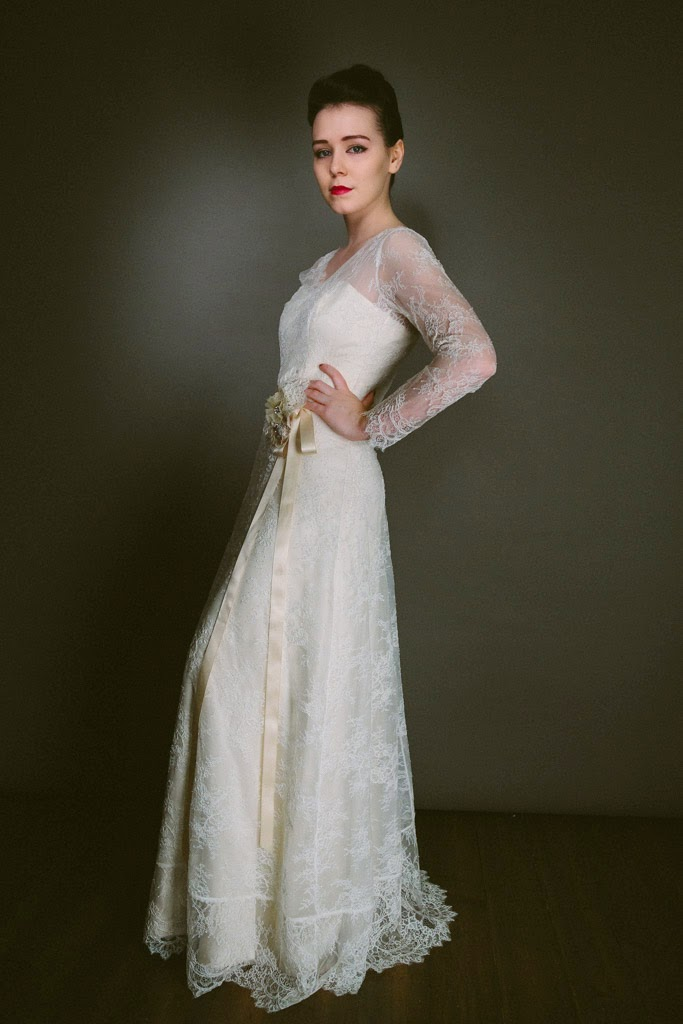 Introducing New Dorothy 1940s Wedding Dress In Fine Chantilly Lace