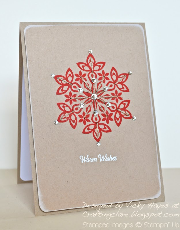 Christmas card idea using Festive Flurry from Stampin up