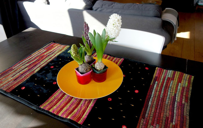 DIY Table Runner Made With Recycled Jeans and T-shirts