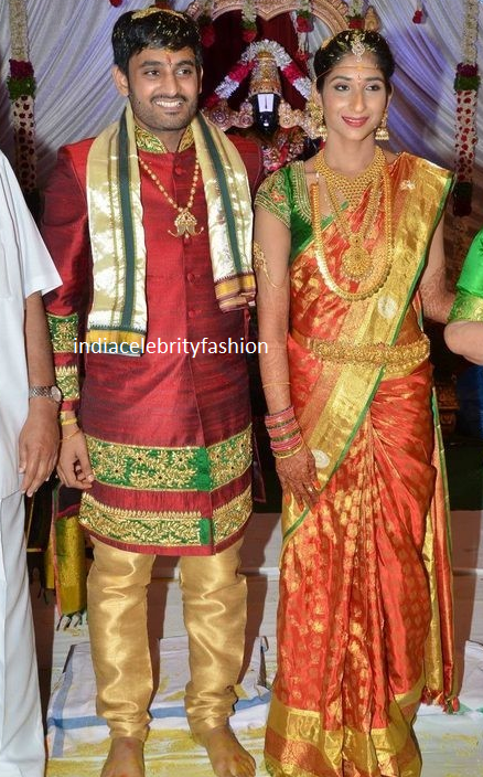 Vijaya Nirmala Niece Sri Divya and Sai Nikhilesh Wedding Photo