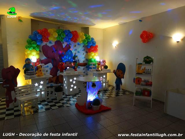 Tema Pocoyo para decoração de festa de aniversário infantil - festa infantil