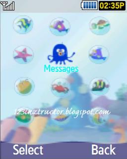 Samsung GT-C5010 Sea Theme Download Menu