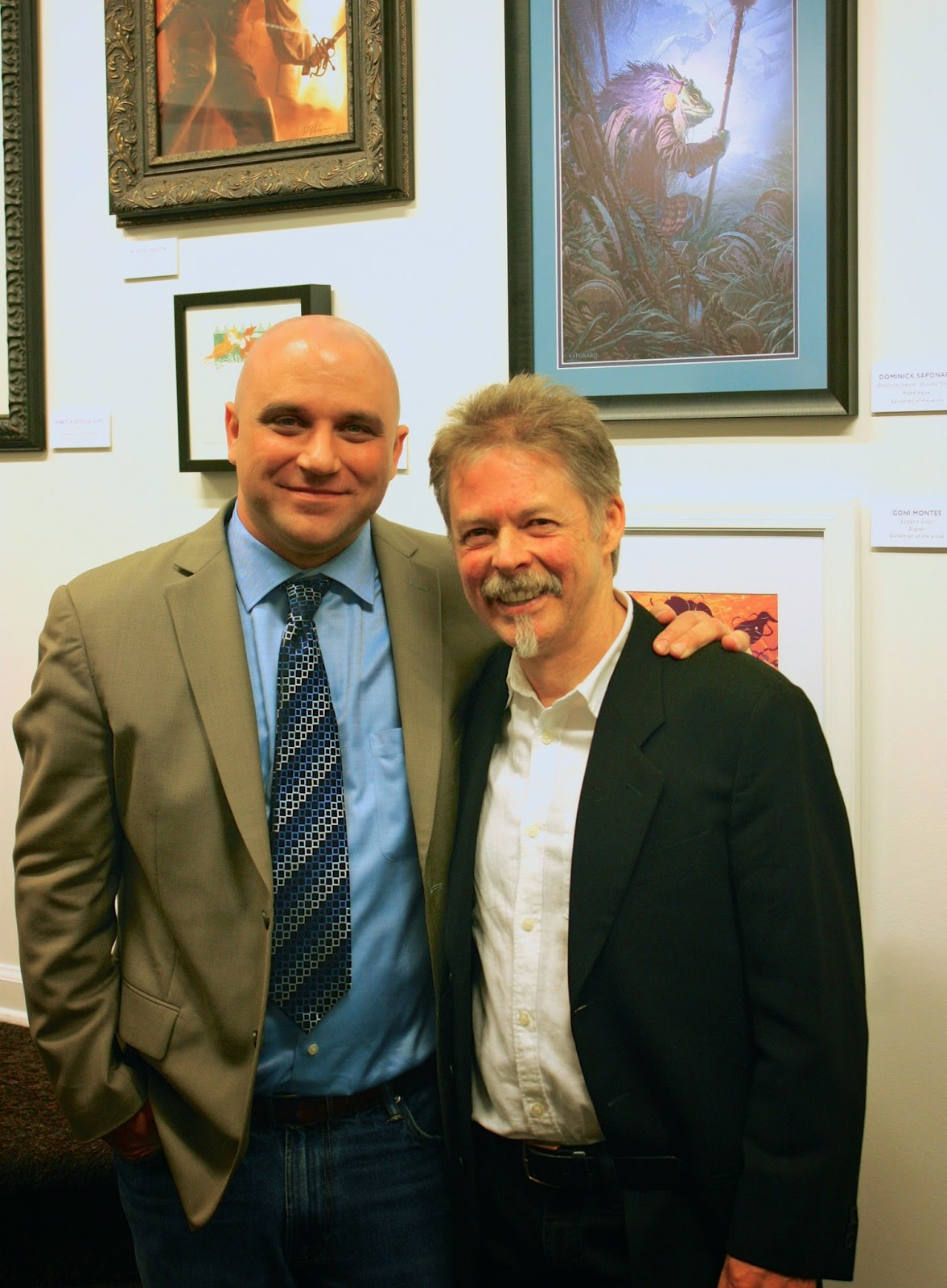 Dominick Saponaro and Greg Manchess Society of Illustrators Reception