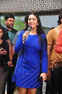 Actress Charmi Kaur Latest Pictures in Short Dress with R Rajkumar Movie Team at Yes Mart 0014