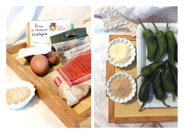 Ingredientes necesarios menos el queso que está en el frigorífico.