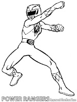 Power Ranger Printable Kids Coloring Pages