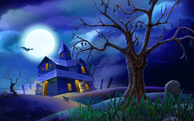 Blue HD Wallpaper for Halloween 2014
