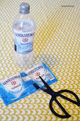 Erster Schritt, Banderole entfernen - DIY Hanteln von hauptstadtpuppi