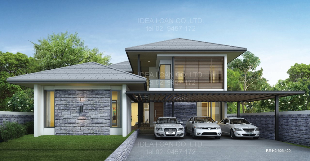 2 Story House Plan 4 Bedrooms 5 9 on modern house in thailand