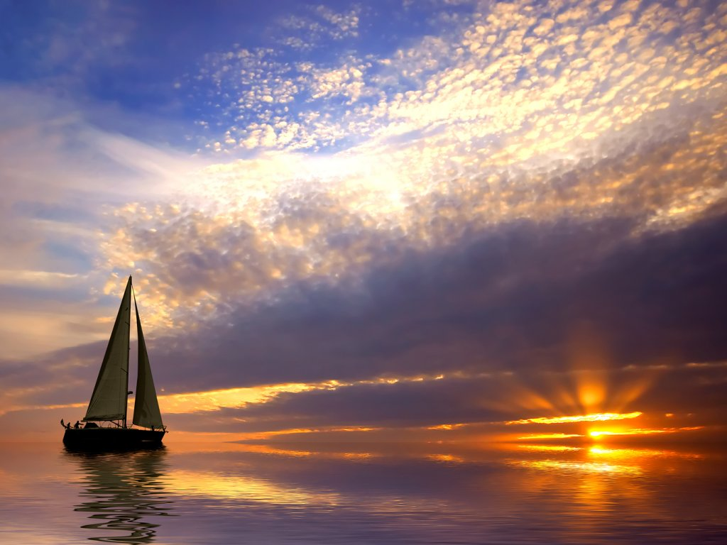 Sunset Sailing Wallpaper Nature Wallpaper HD Wallpapers Download Free Images Wallpaper [1000image.com]