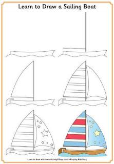 Cara Menggambar Perahu Layar