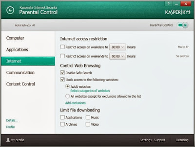 Kaspersky Internet Security 2014 14.0 – Parental Control
