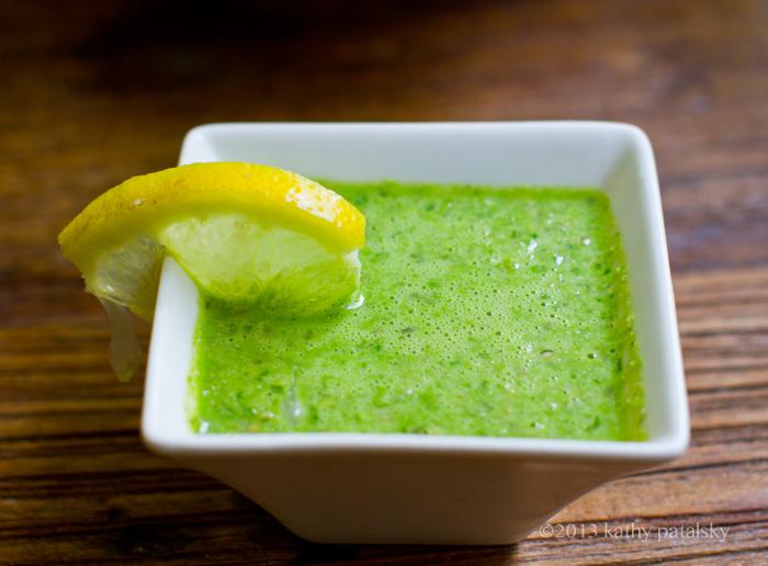 Green Princess Plate. Romaine Salad + Fresh Green Dressing.