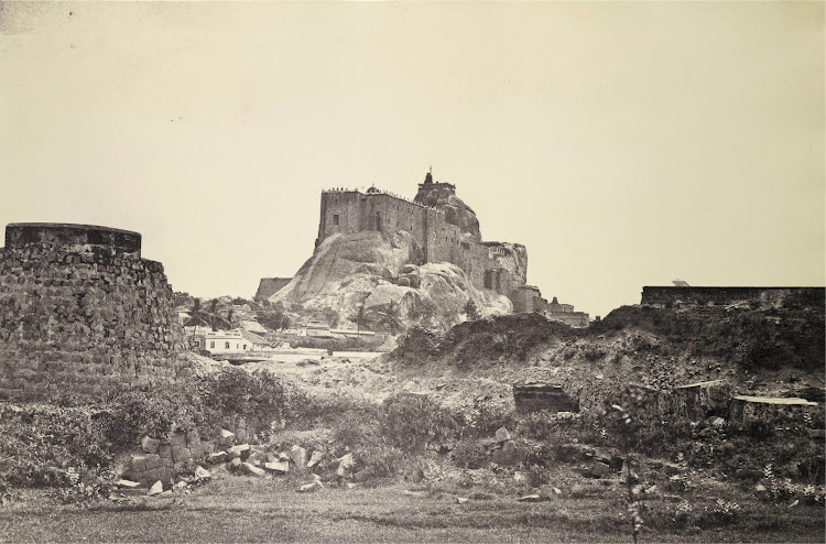 Rock Fort Temple Complex in Tiruchirapalli, Tamil Nadu 1858