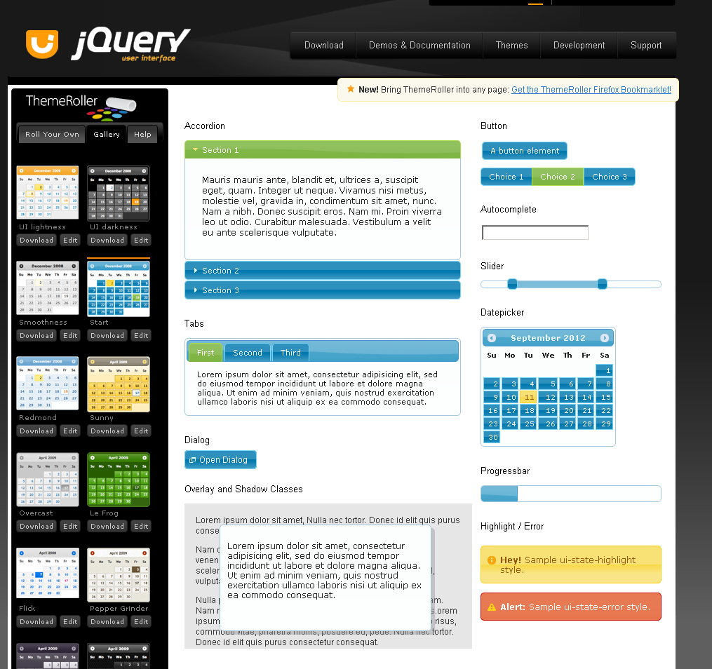 Detailed guide of how to setup jquery ui part 1 jquery for Table design jquery ui
