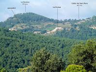 Vistes de la part alta de L'Estany des del Roure Bonic
