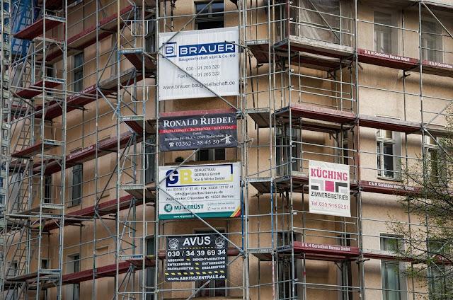 Baustelle Modernisierung eines Wohnhauses, Prenzlauer Allee / Raabestraße, 10405 Berlin, 07.04.2014
