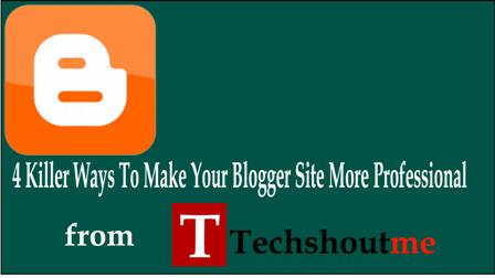 make blogger professional