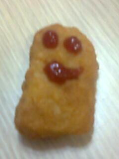 ¡Salve, oh, McNugget sonriente!