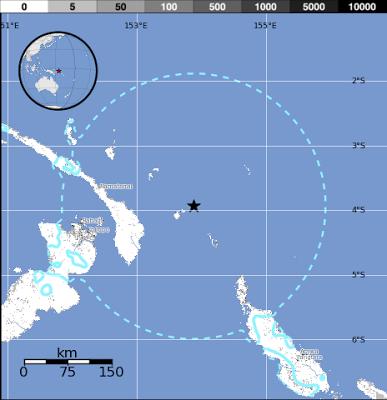 TERREMOTO DE 7,2 GRADOS SACUDIÓ NUEVA IRLANDA, EN PAPUA NUEVA GUINEA