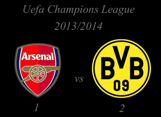 Arsenal vs Borussia Dortmund Result Uefa Champions League 2013