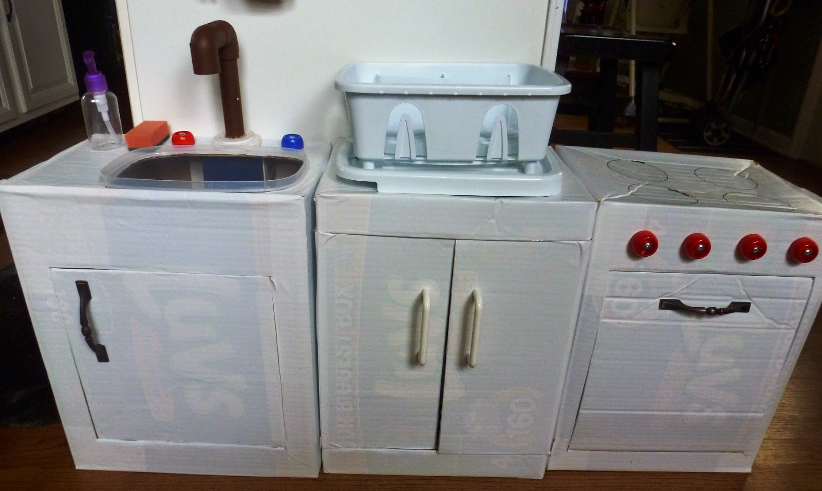 Tour of our DIY Play Kitchen ~ Mama Bear\'s Cottage