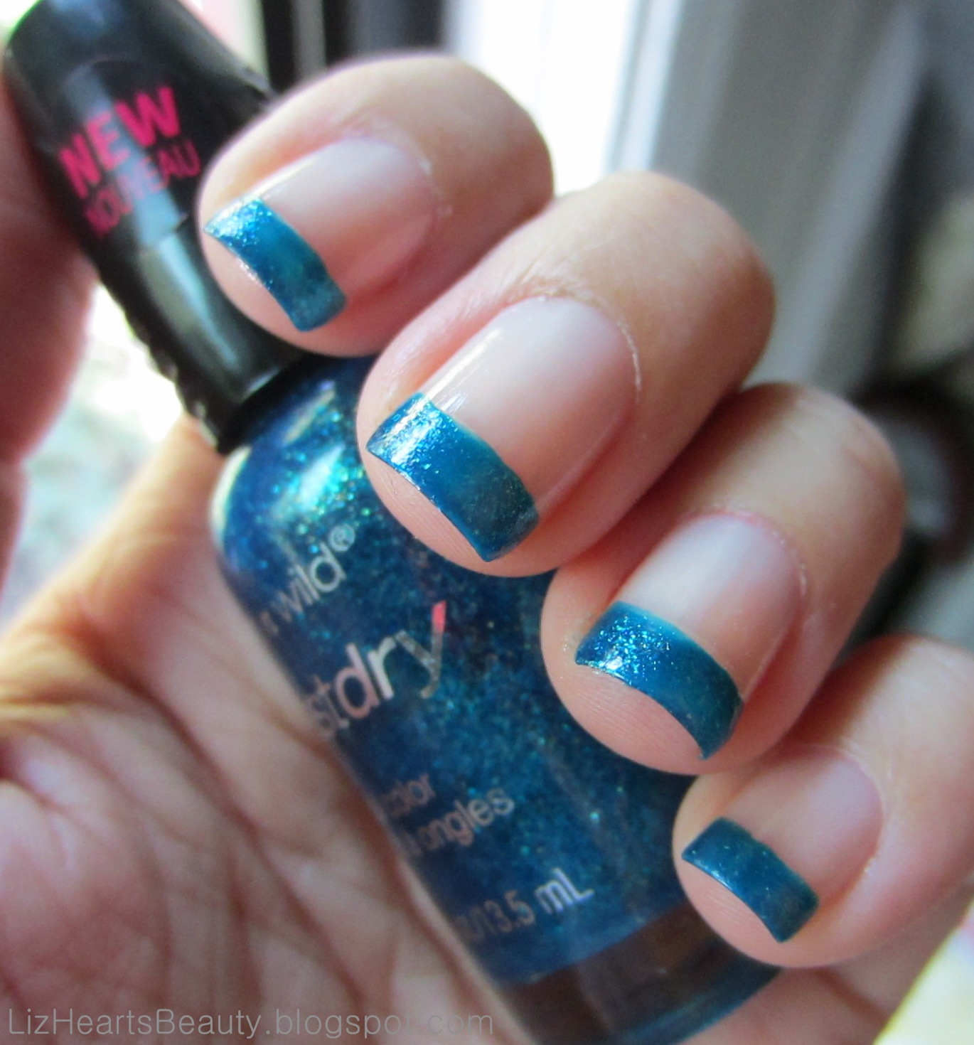 Liz Hearts Beauty!: Wet n Wild fastdry Nail Polish, French Tip Style