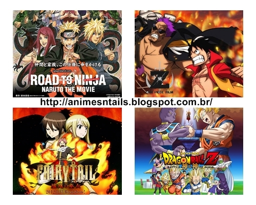 Qual o filme mais aguardado? Naruto, One Piece, Fairy tail, Dragon Ball Z