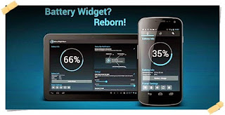 Penghemat baterai android Battery Widget Reborn
