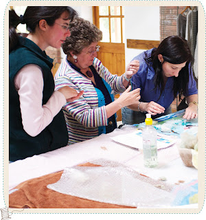 Carrie the thoroughly modern maker textile craft workshops within the Midlands