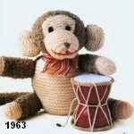 patron gratis mono amigurumi de punto, free knit amigurumi pattern monkey