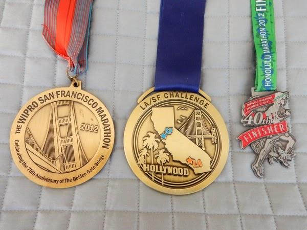 San Francisco Honolulu Marathon medals