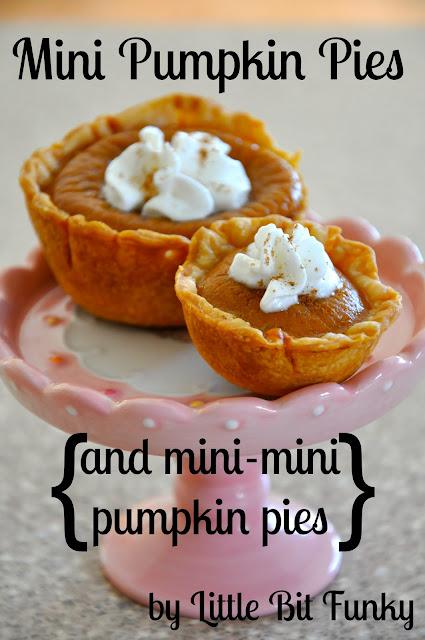 ... made for monday - mini pumpkin pies - and mini mini pumpkin pies