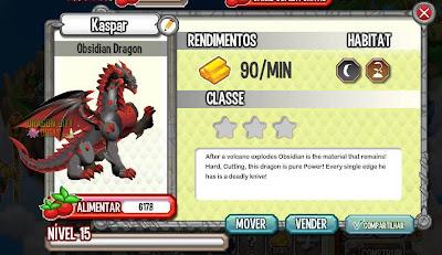 Dragão Obsidian - Informações