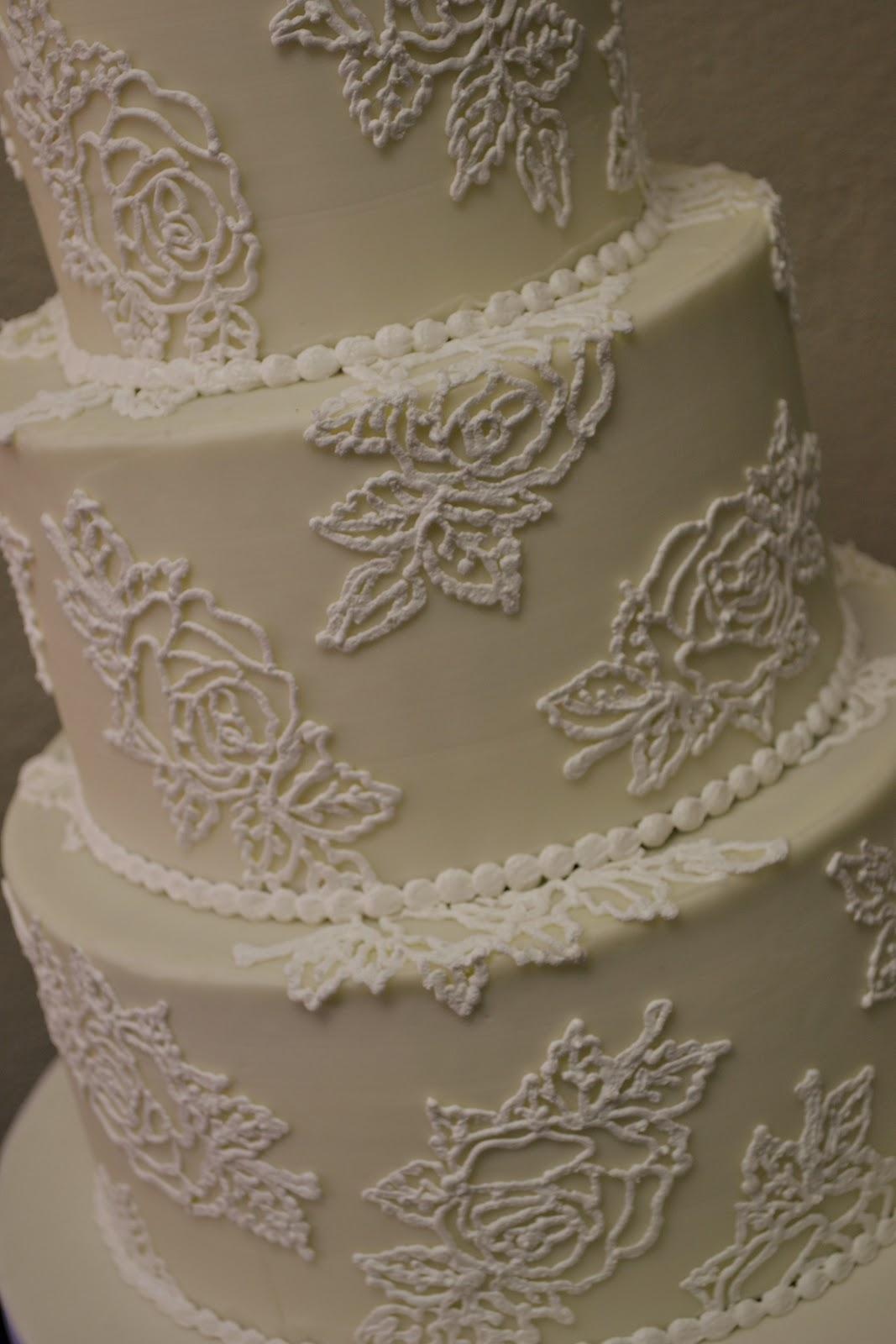 Sweet Cakes by Rebecca Buttercream Rose Wedding Cake