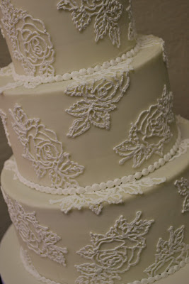 Sweet Cakes by Rebecca - Hand piped buttercream rose wedding cake