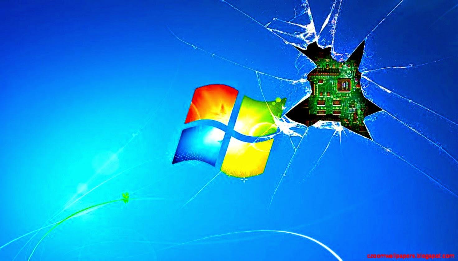 window 7 wallpaper broken hd -#main