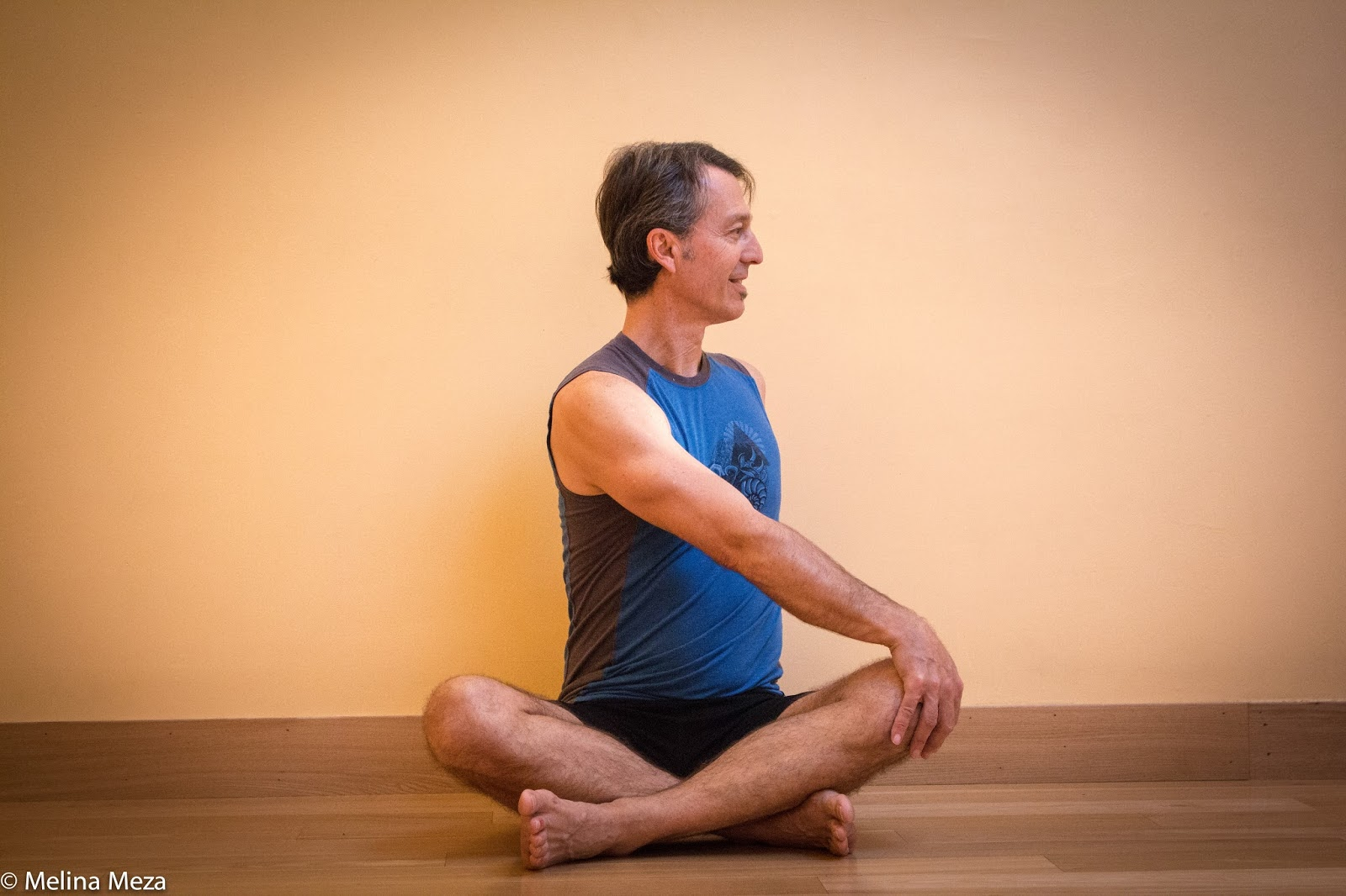 Sitting On The Floor With Crossed Legs In Easy Pose Sukasana Is Often Starting Place For Many Beginner Level Classes And Therefore