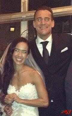 Leaked CM Punk and AJ Lee Wedding Photo.