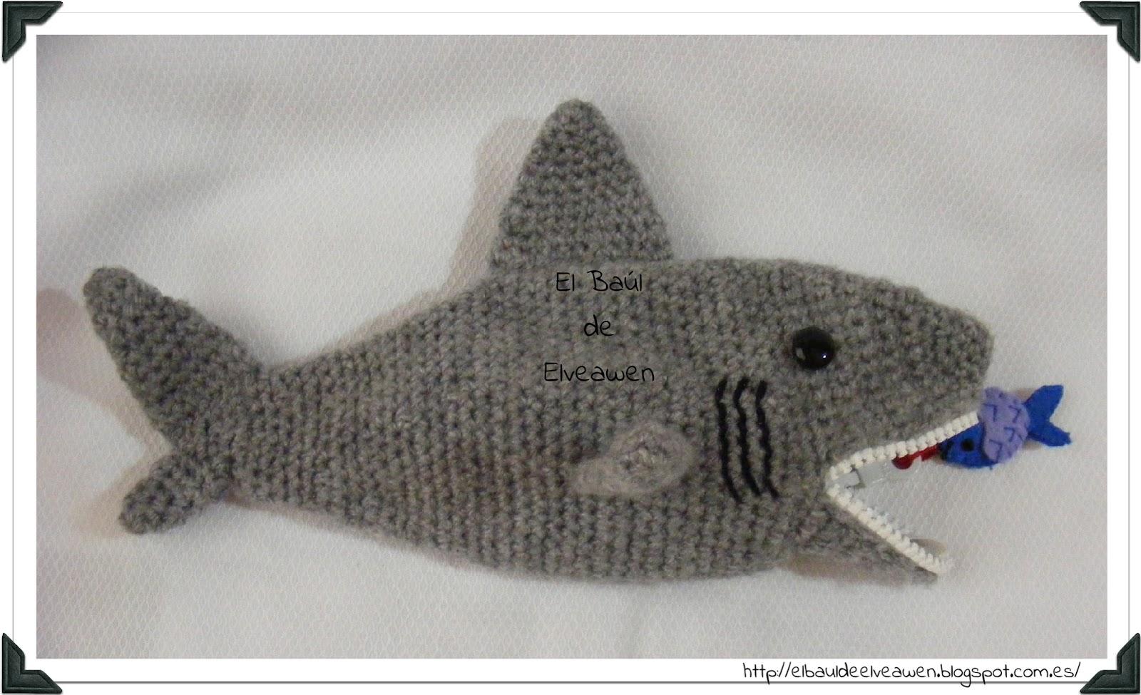 Lujoso Crochet Patrón De Zapatillas De Tiburón Regalo - Manta de ...