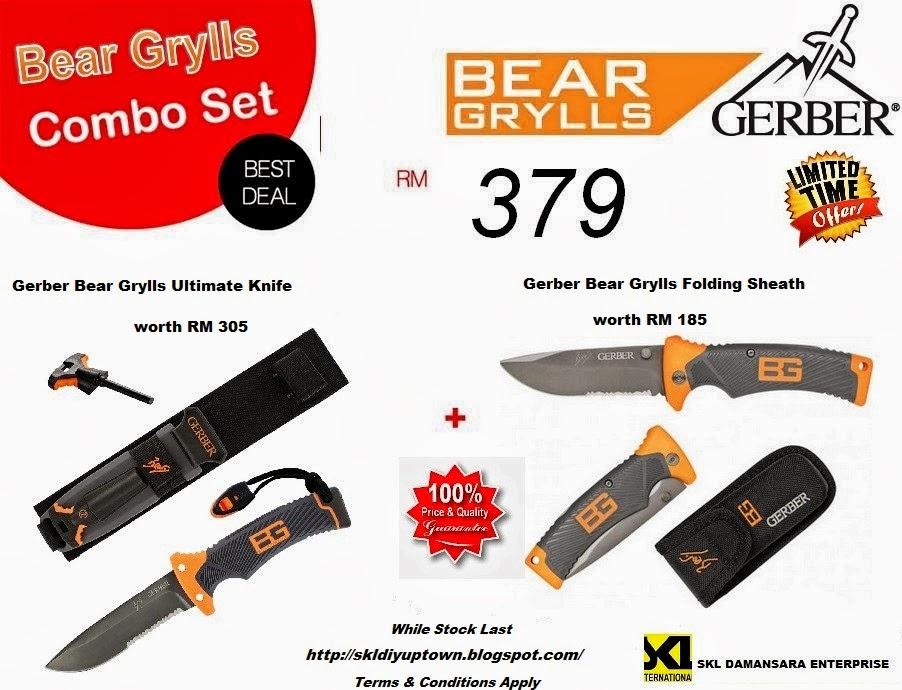 Gerber Bear Grylls Combo Set @ RM 379