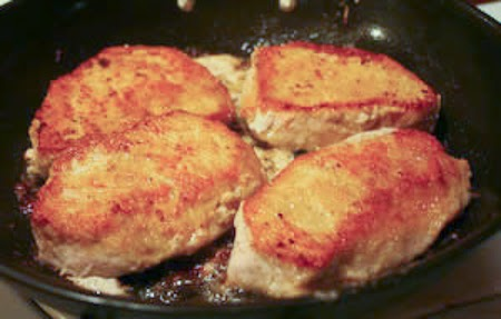 Milk-Braised Pork Chops Recipe found on KalynsKitchen.com