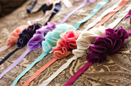 colorful bridesmaid dress sashes