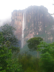 Morning After Flow, Angel Falls, from camps across river
