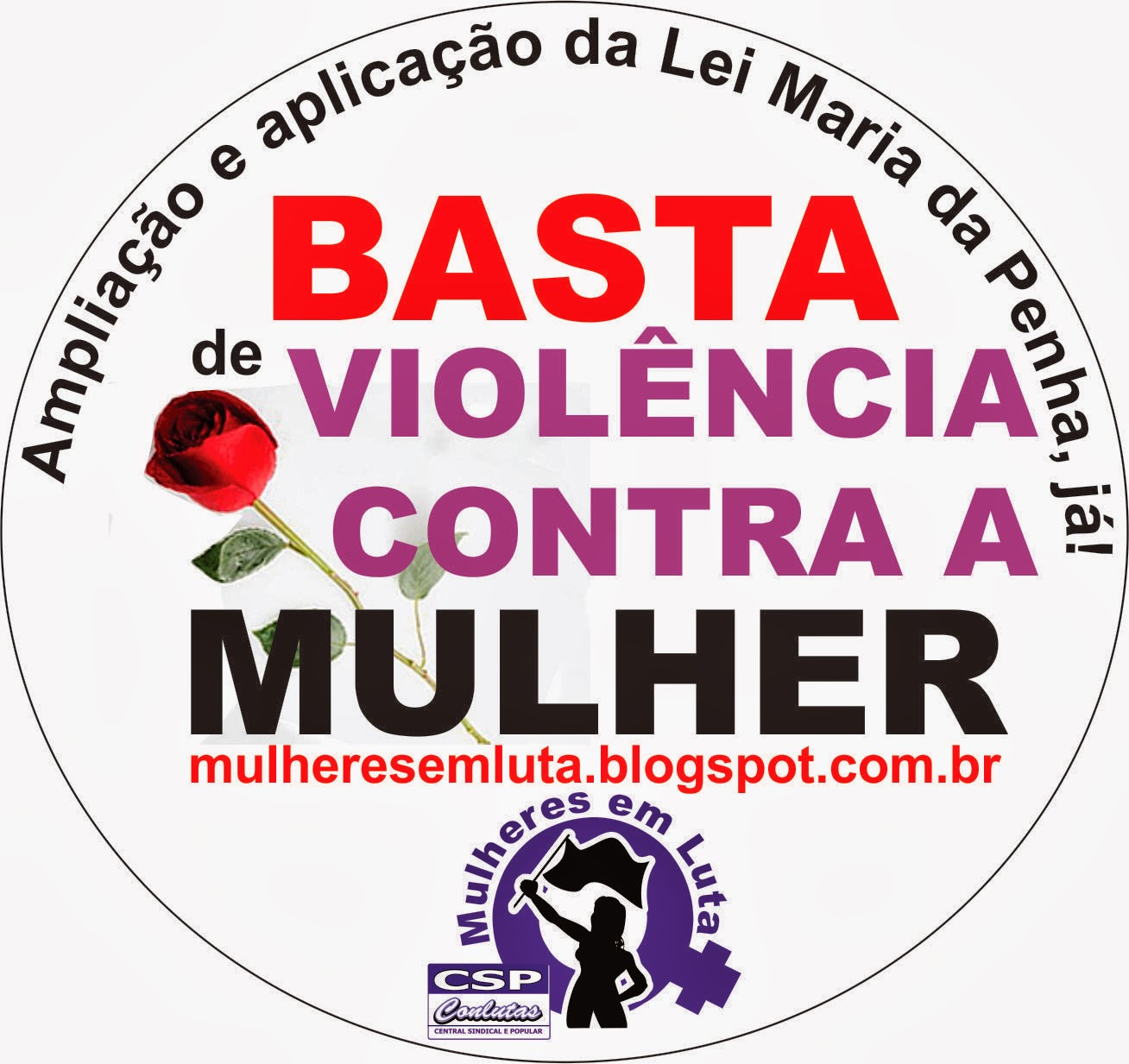 Chega da violência contra as mulheres!