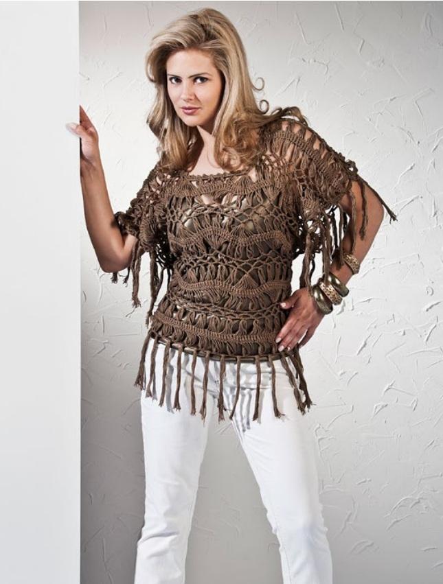 Receita Vestido de Crochê Plus Size Verão ~ Armarinho São José