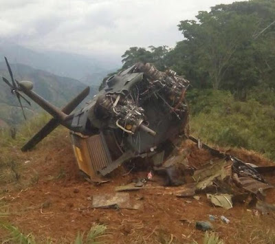 Así quedó el helicóptero UH-60L Black Hawk del Ejército derribado en Norte de Santander